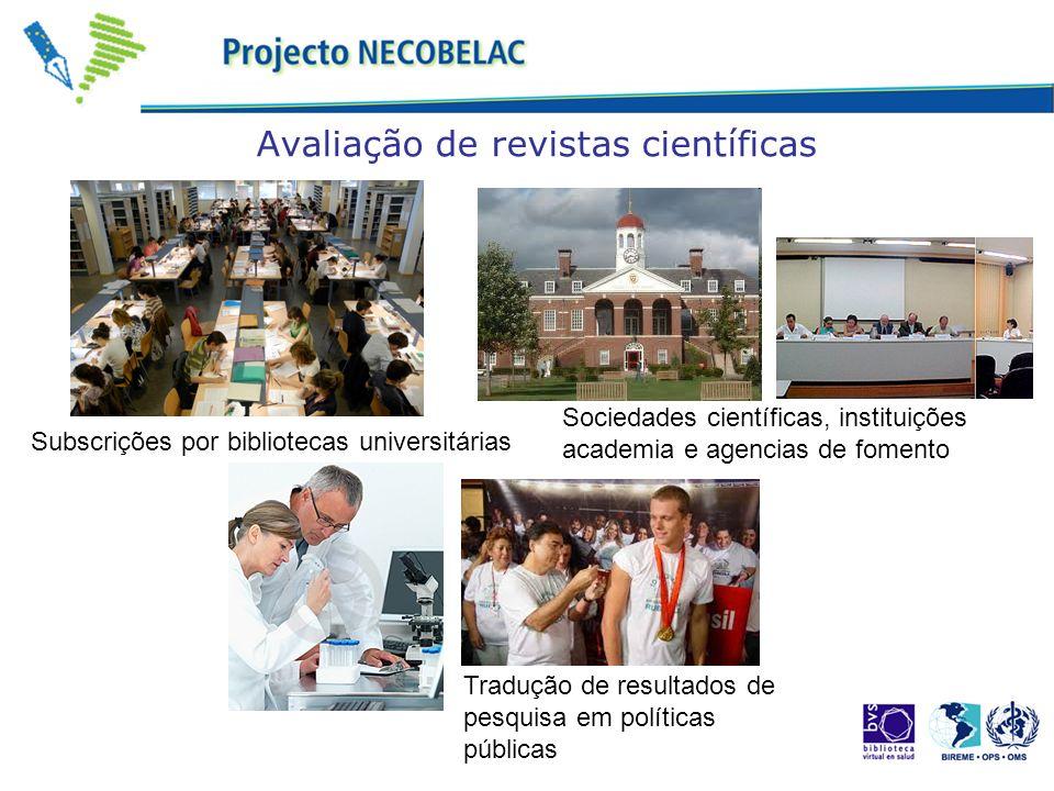 Avaliação de revistas científicas