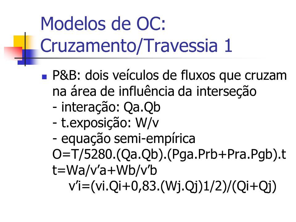Modelos de OC: Cruzamento/Travessia 1