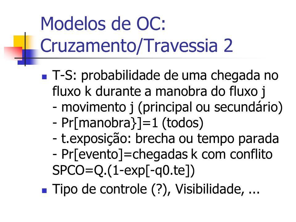 Modelos de OC: Cruzamento/Travessia 2