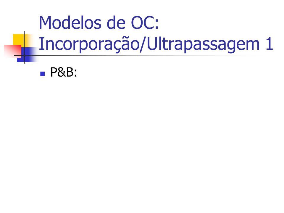 Modelos de OC: Incorporação/Ultrapassagem 1