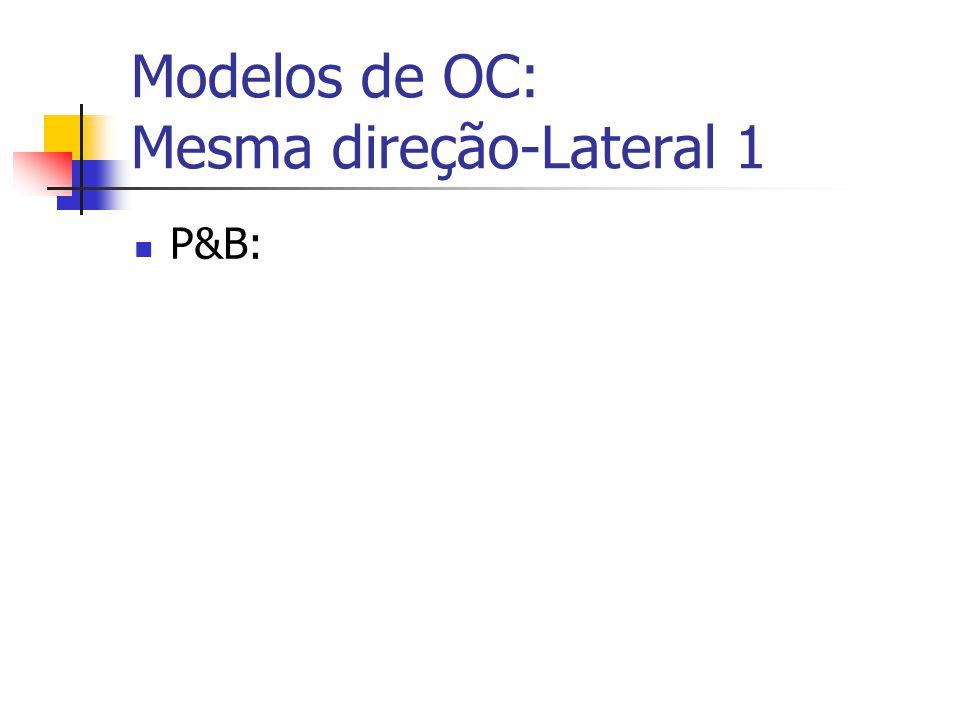 Modelos de OC: Mesma direção-Lateral 1