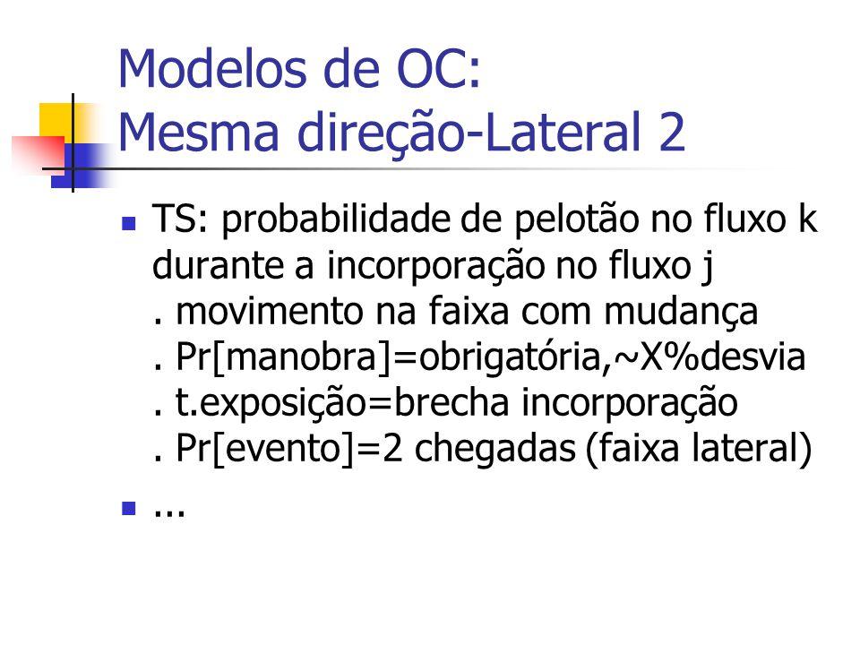 Modelos de OC: Mesma direção-Lateral 2
