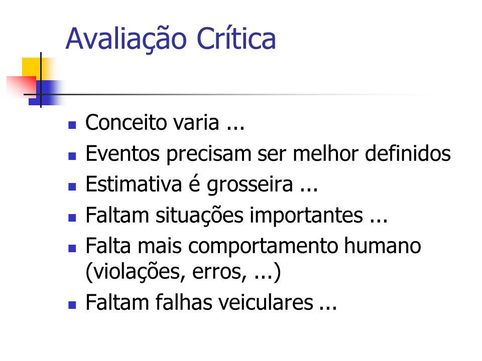 Avaliação Crítica Conceito varia ...