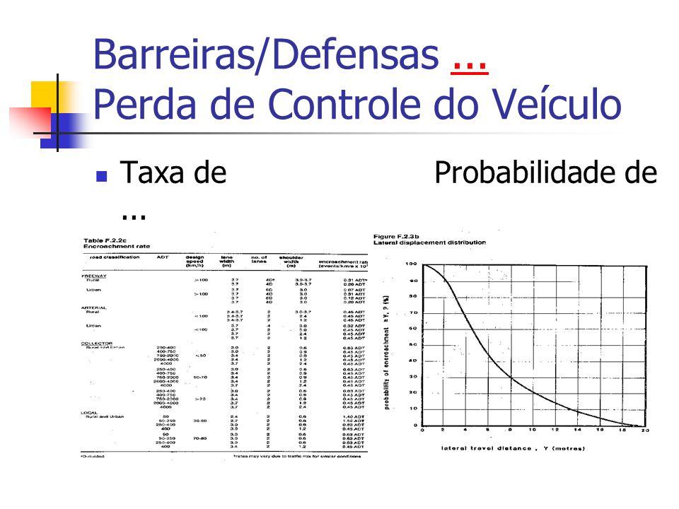 Barreiras/Defensas ... Perda de Controle do Veículo