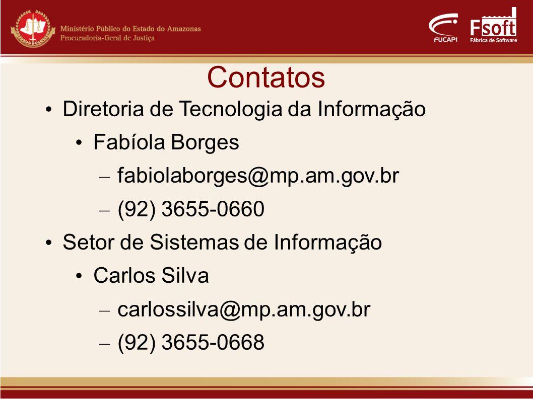 Contatos Diretoria de Tecnologia da Informação Fabíola Borges