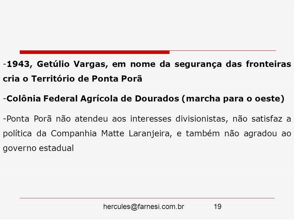 Colônia Federal Agrícola de Dourados (marcha para o oeste)