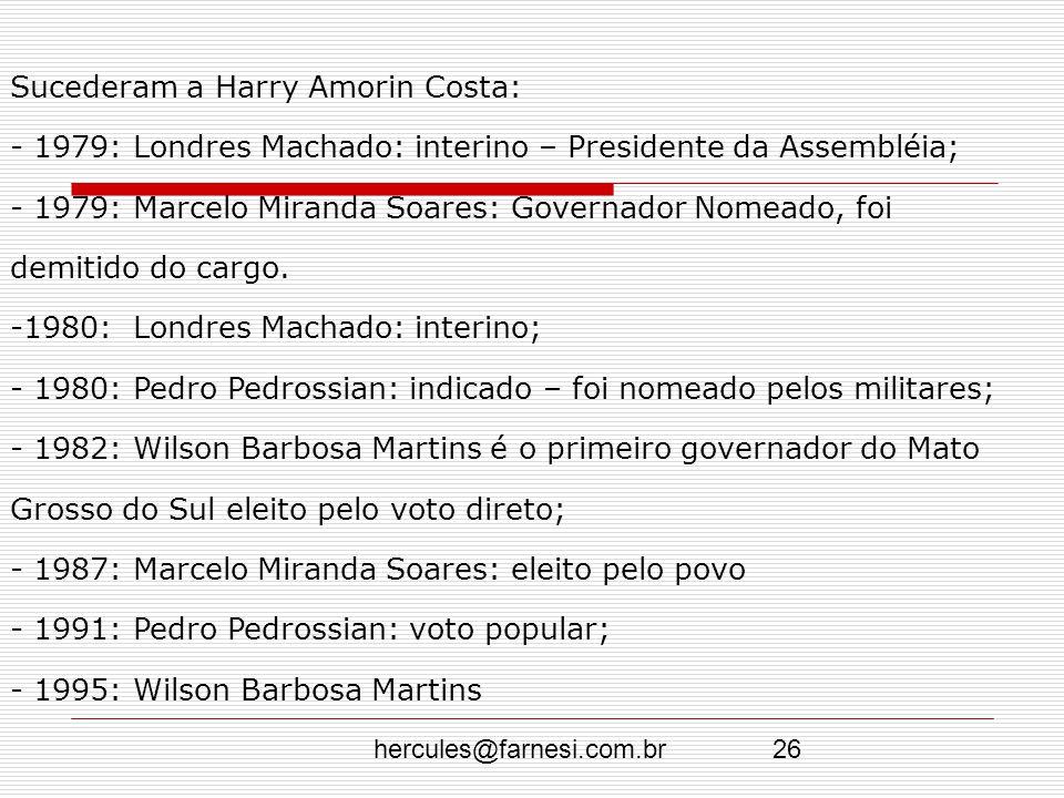 Sucederam a Harry Amorin Costa: