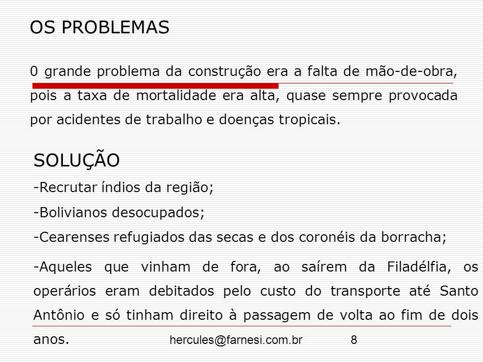OS PROBLEMAS