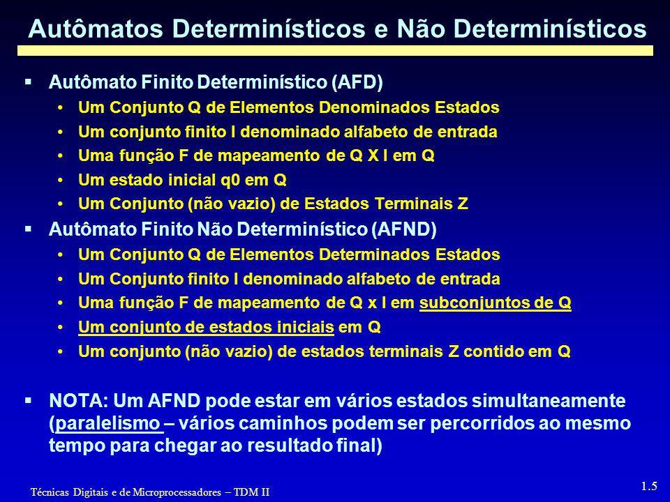 Autômatos Determinísticos e Não Determinísticos