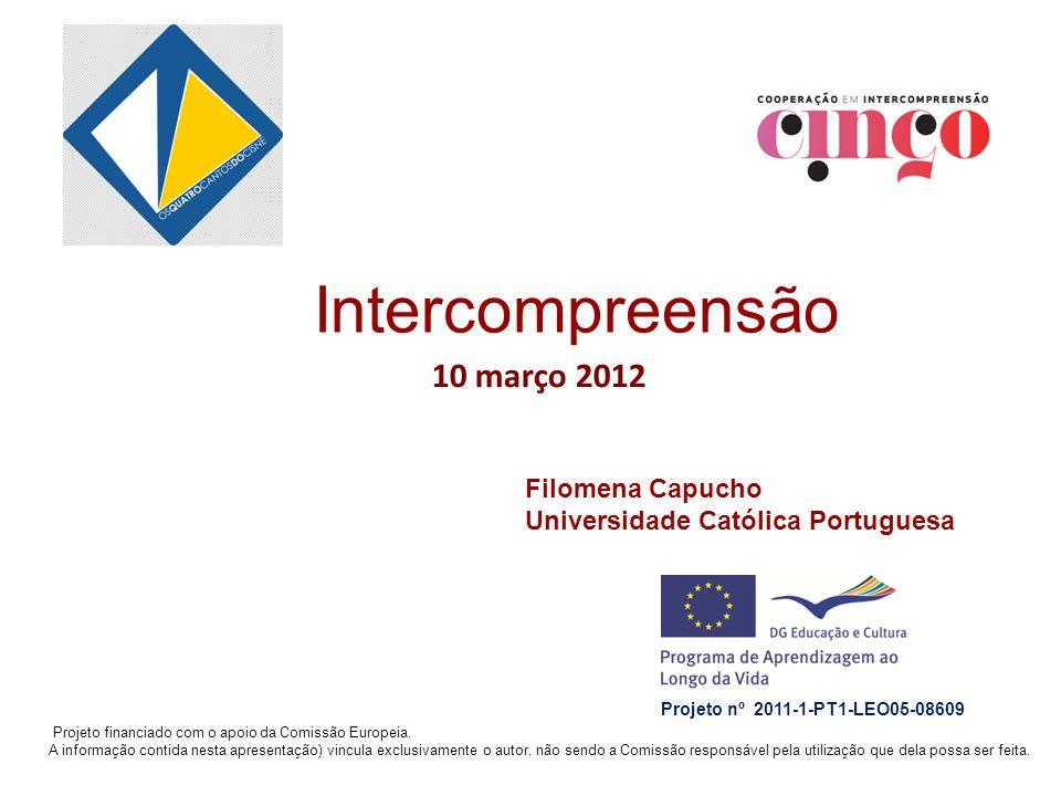 Intercompreensão 10 março 2012 Filomena Capucho