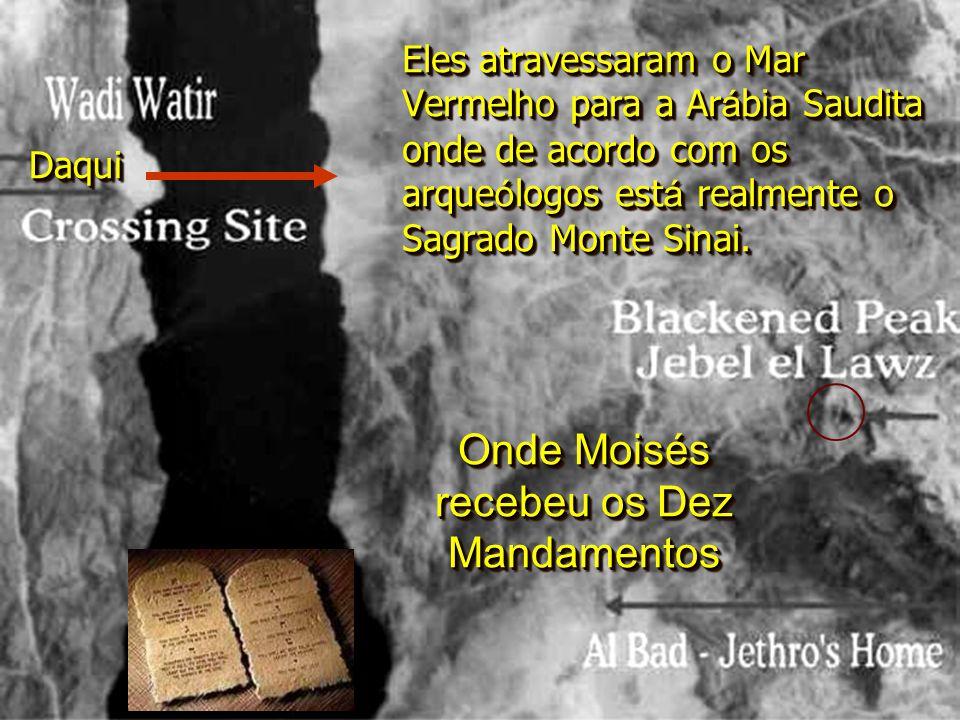 Onde Moisés recebeu os Dez Mandamentos