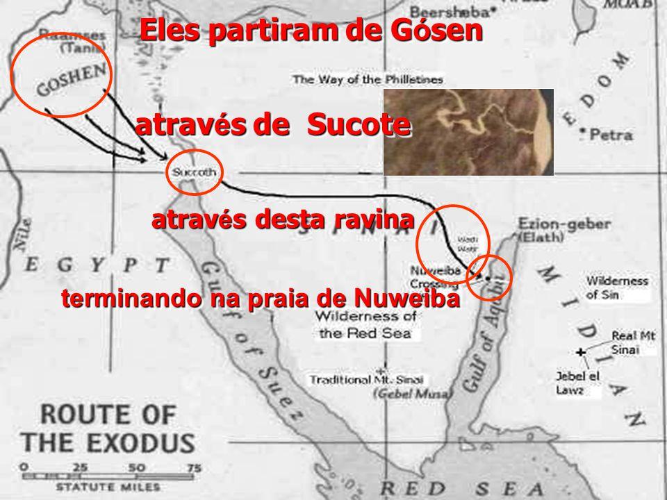 Eles partiram de Gósen através de Sucote
