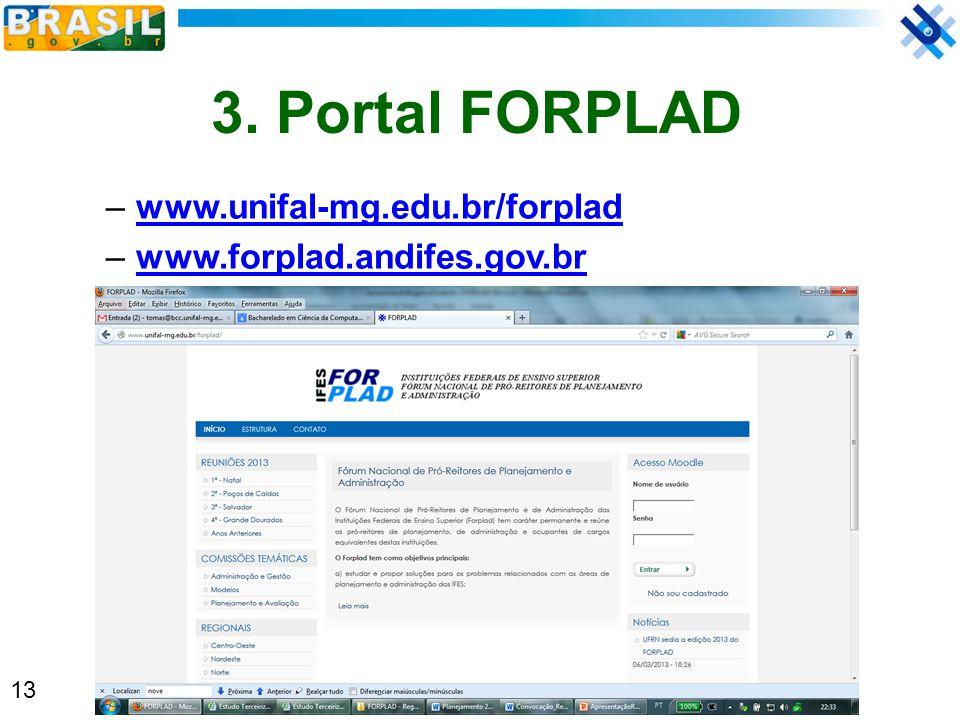 3. Portal FORPLAD www.unifal-mg.edu.br/forplad