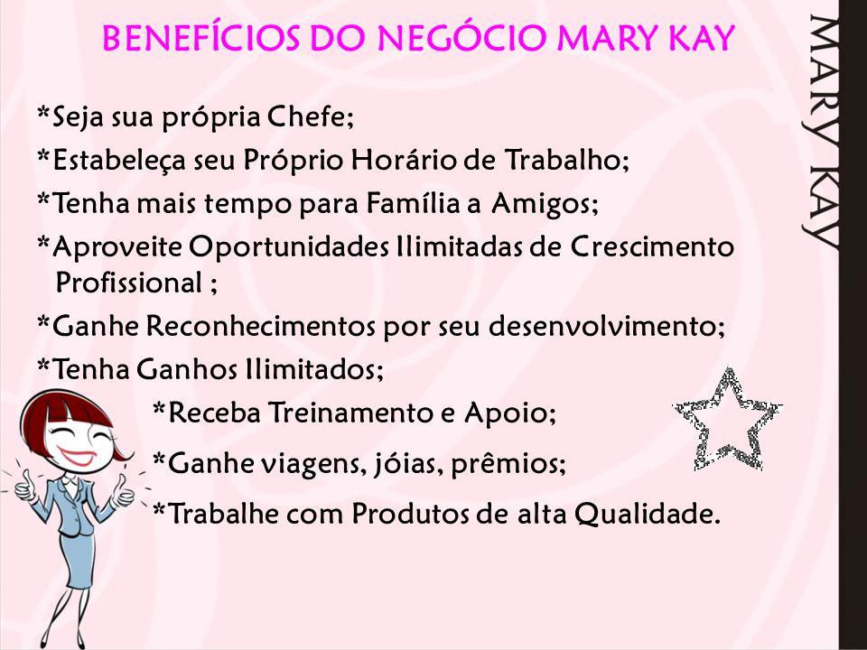 BENEFÍCIOS DO NEGÓCIO MARY KAY