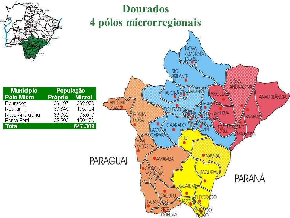 4 pólos microrregionais