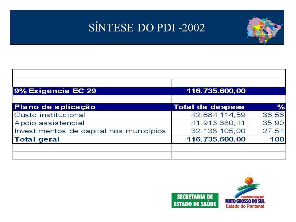 SÍNTESE DO PDI -2002