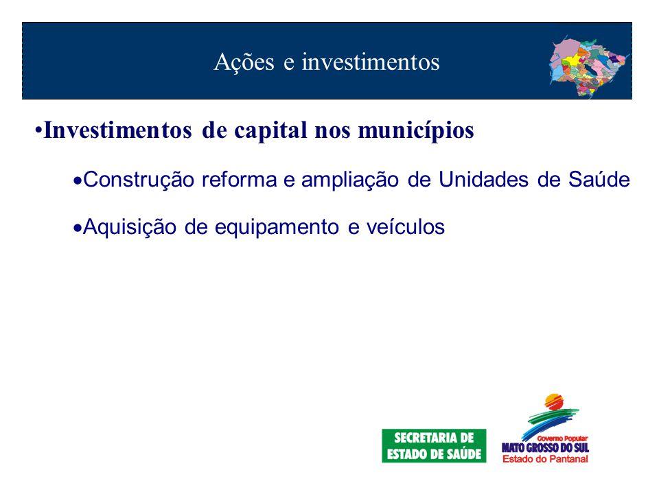 Investimentos de capital nos municípios