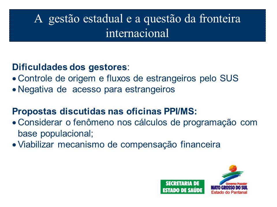 A gestão estadual e a questão da fronteira internacional