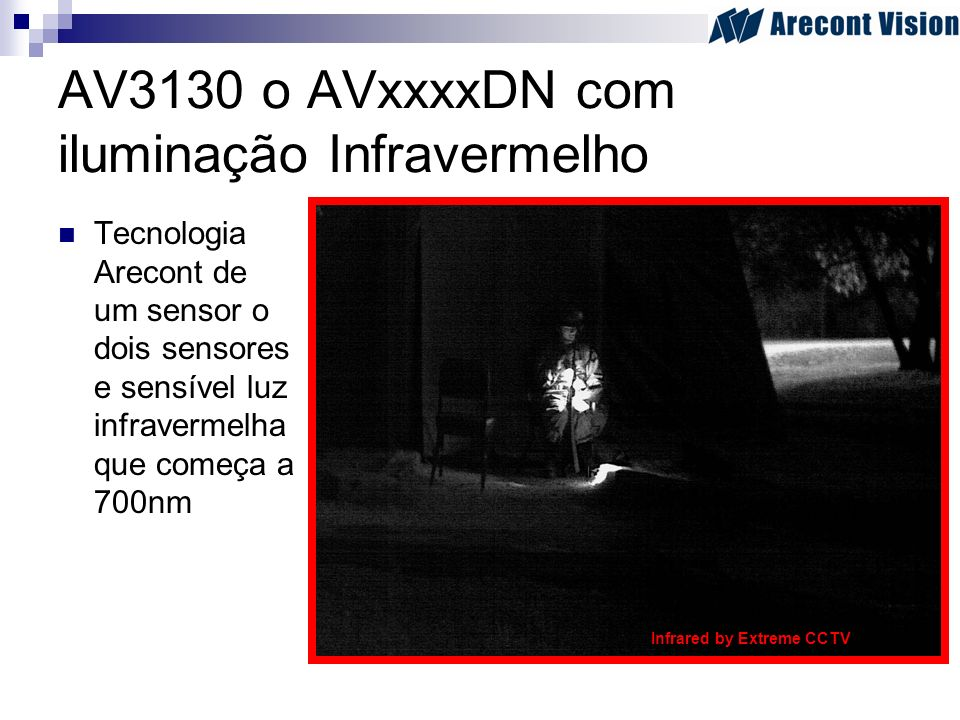 AV3130 o AVxxxxDN com iluminação Infravermelho