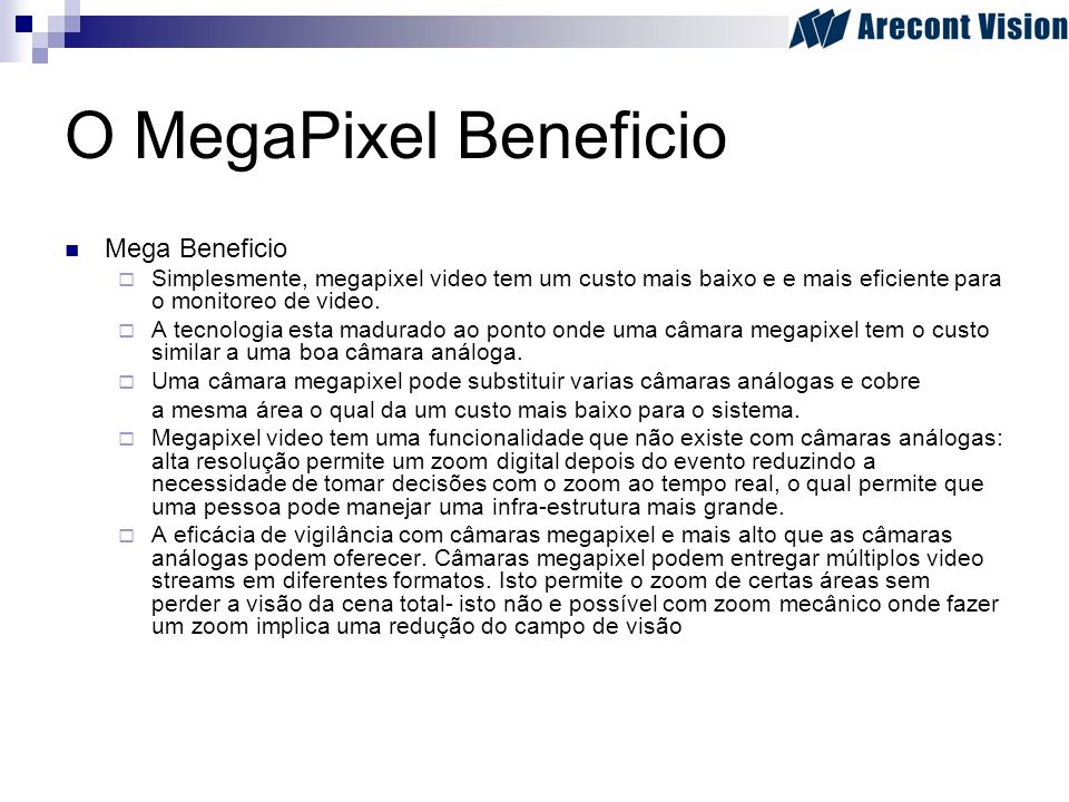 O MegaPixel Beneficio Mega Beneficio