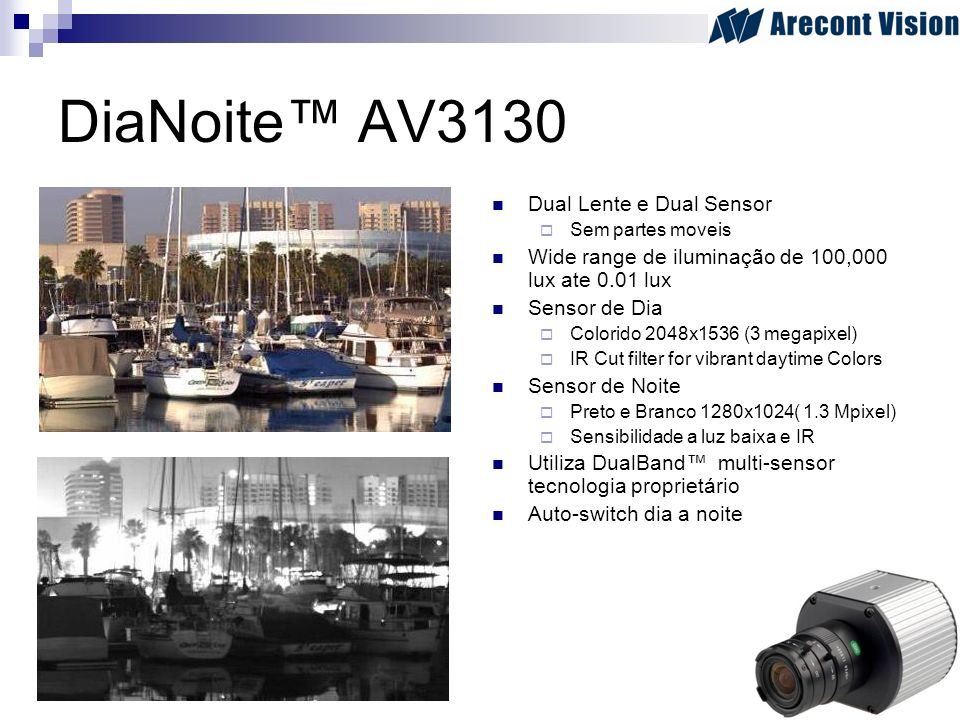 DiaNoite™ AV3130 Dual Lente e Dual Sensor