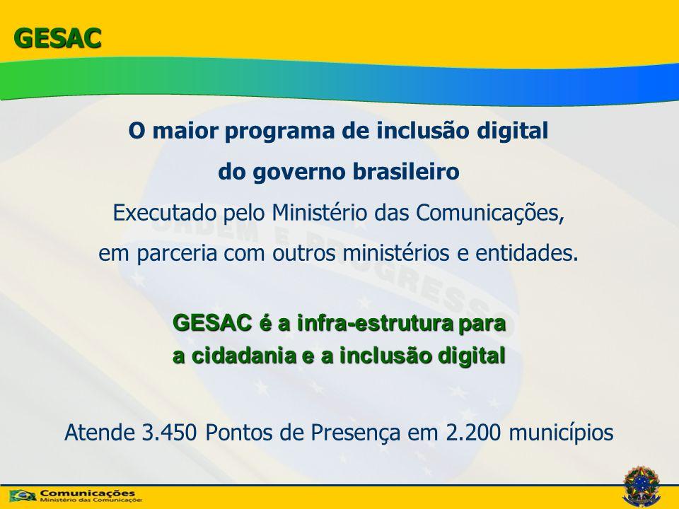 GESAC O maior programa de inclusão digital do governo brasileiro