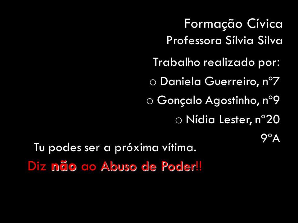 Formação Cívica Professora Sílvia Silva