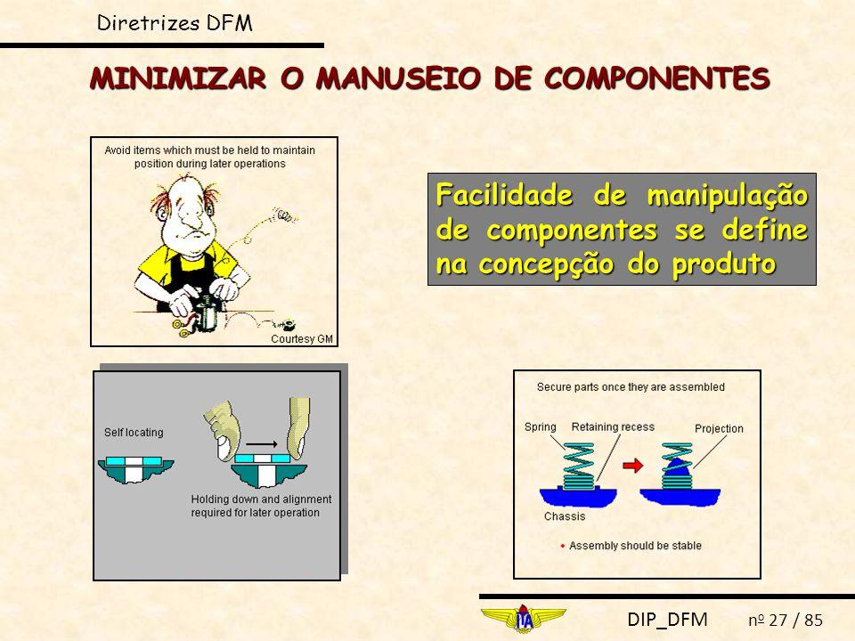 MINIMIZAR O MANUSEIO DE COMPONENTES