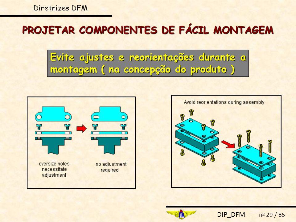 PROJETAR COMPONENTES DE FÁCIL MONTAGEM
