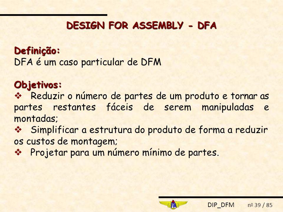 DESIGN FOR ASSEMBLY - DFA