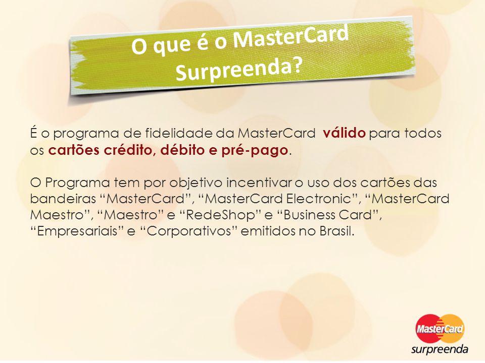 O que é o MasterCard Surpreenda