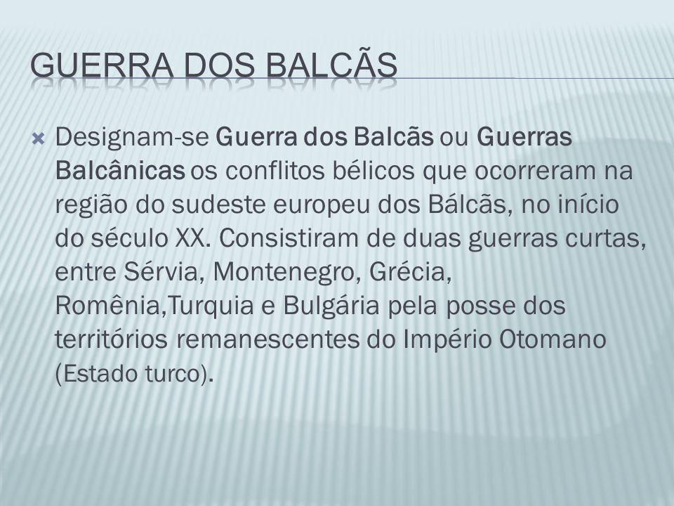 GUERRA DOS BALCÃS