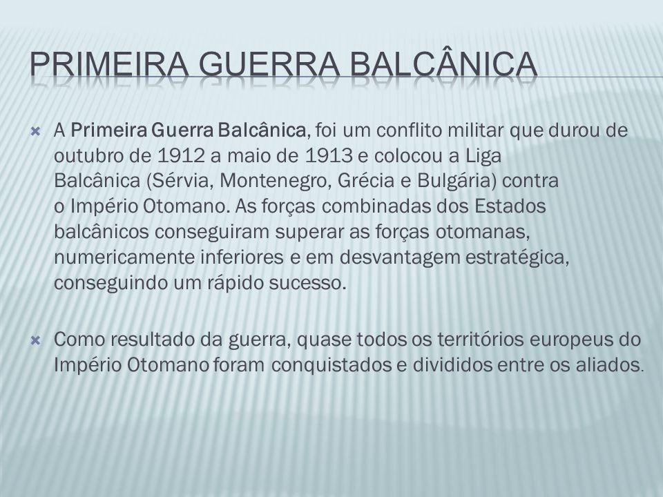 PRIMEIRA GUERRA BALCâNICA