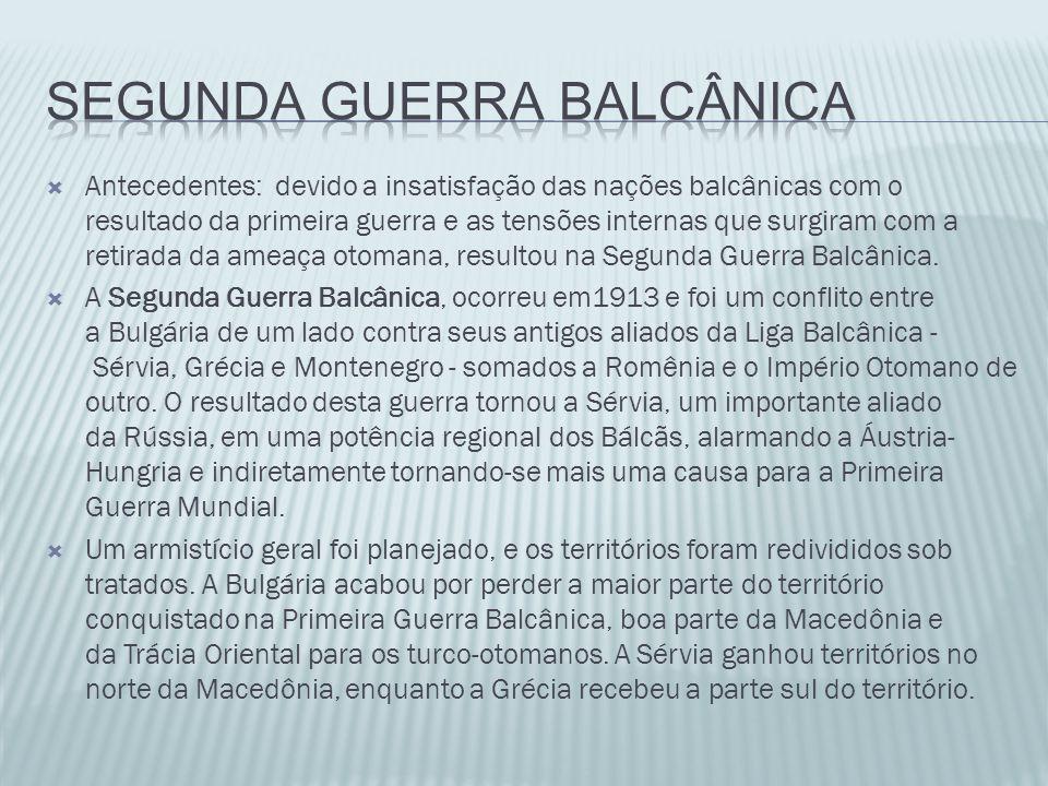 SEGUNDA GUERRA BALCâNICA