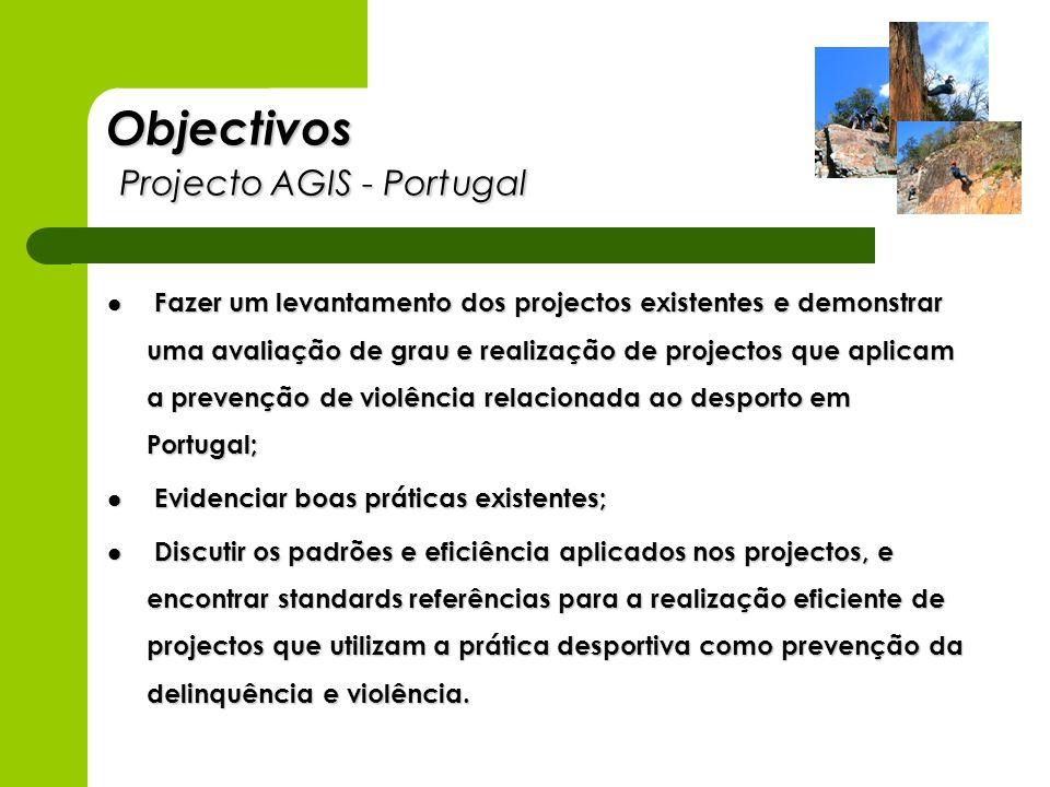 Objectivos Projecto AGIS - Portugal