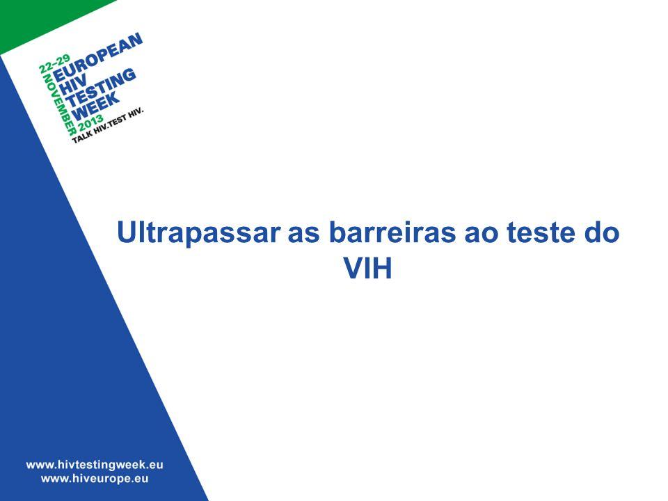 Ultrapassar as barreiras ao teste do VIH