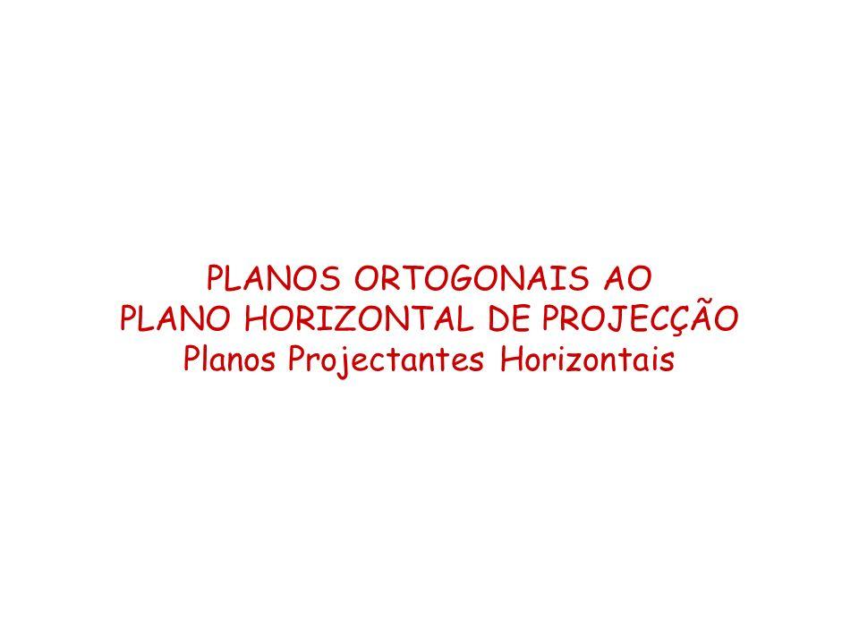 PLANO HORIZONTAL DE PROJECÇÃO Planos Projectantes Horizontais