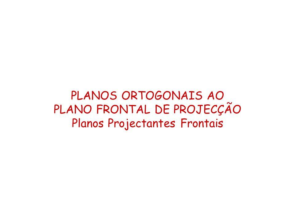 PLANO FRONTAL DE PROJECÇÃO Planos Projectantes Frontais