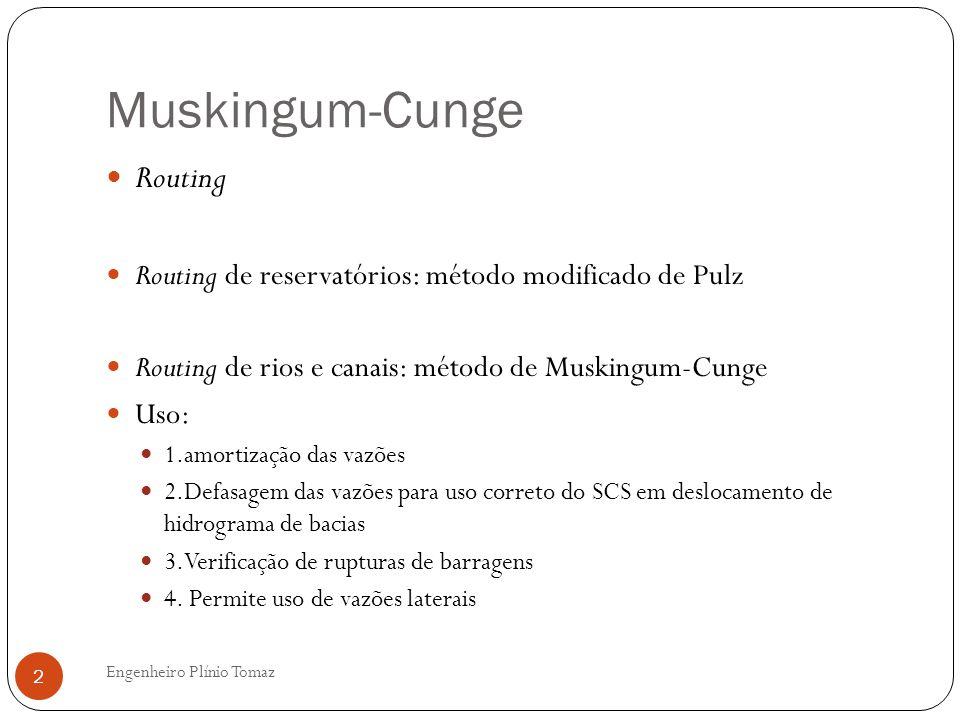 Muskingum-Cunge Routing