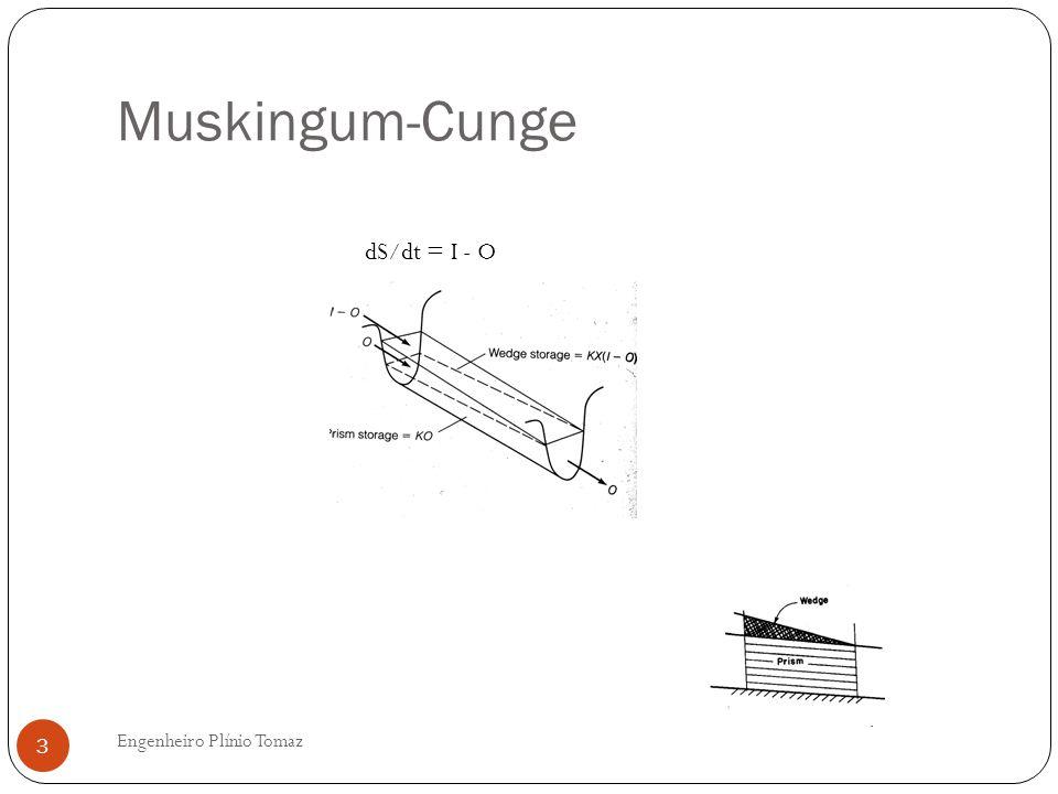 Muskingum-Cunge dS/dt = I - O Engenheiro Plínio Tomaz