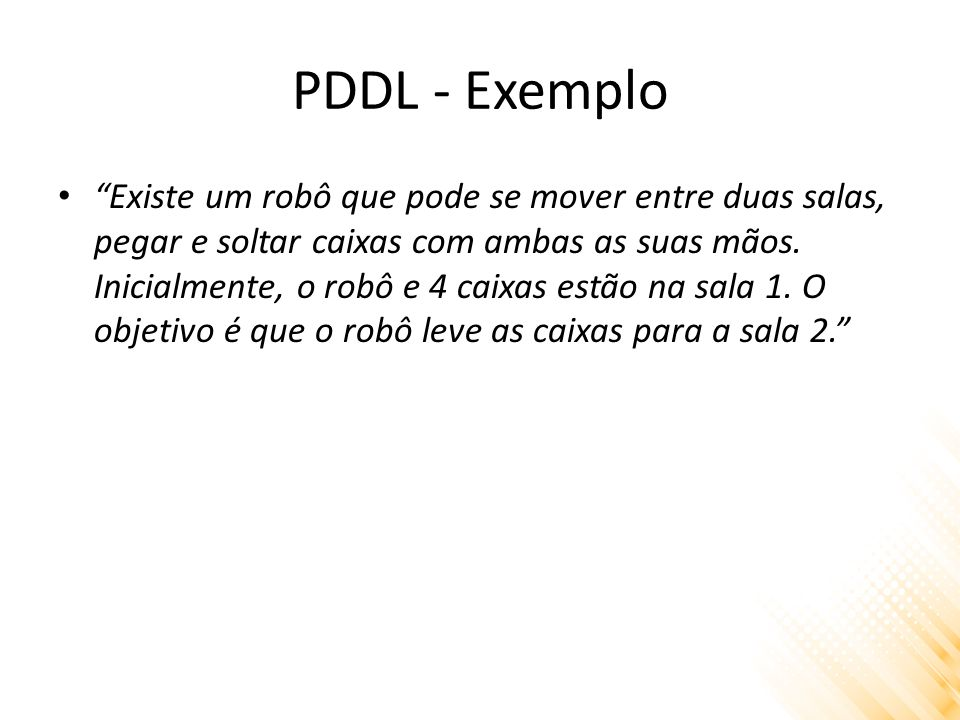 PDDL - Exemplo