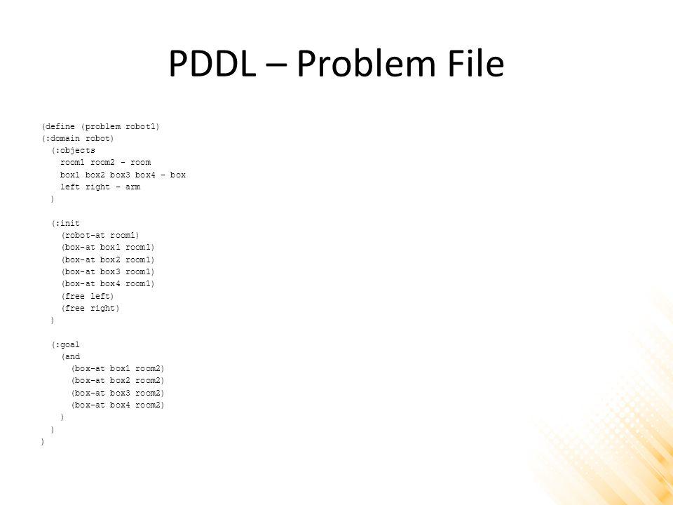 PDDL – Problem File