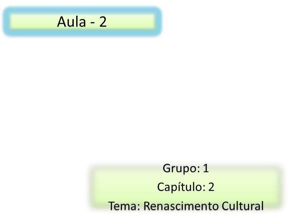 Grupo: 1 Capítulo: 2 Tema: Renascimento Cultural
