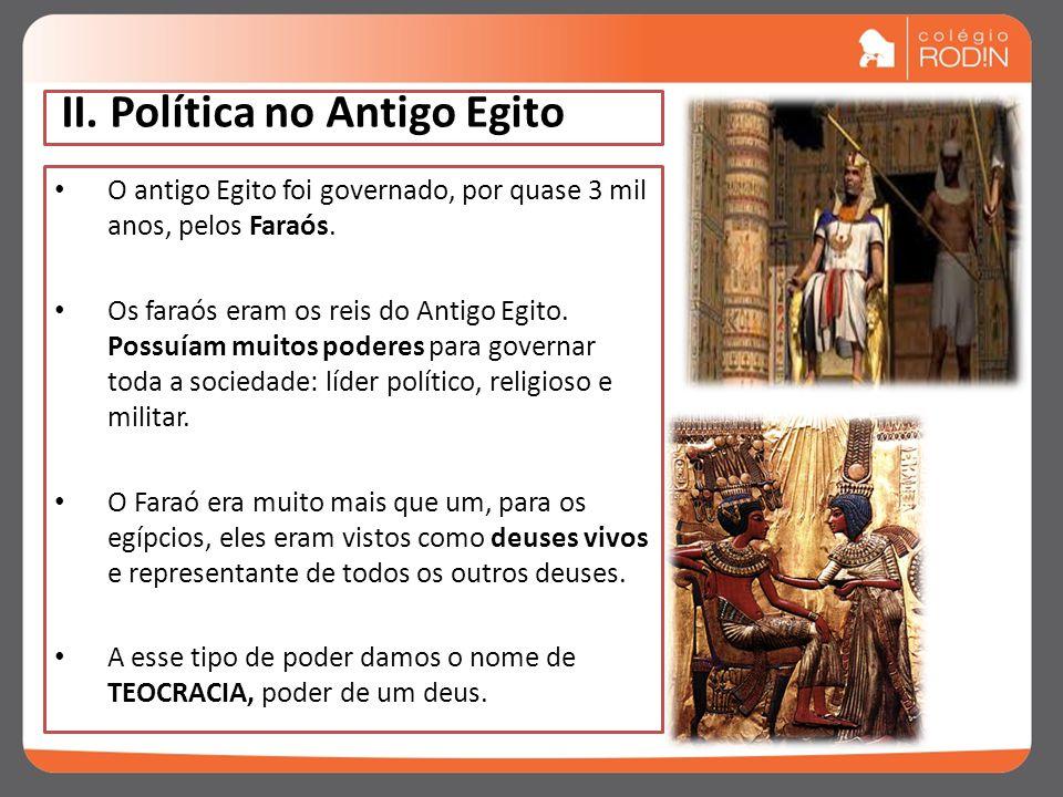 II. Política no Antigo Egito