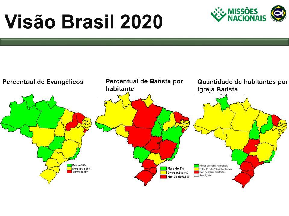 Visão Brasil 2020 Percentual de Evangélicos