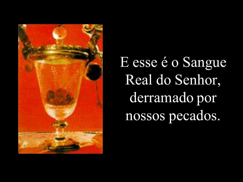E esse é o Sangue Real do Senhor, derramado por nossos pecados.