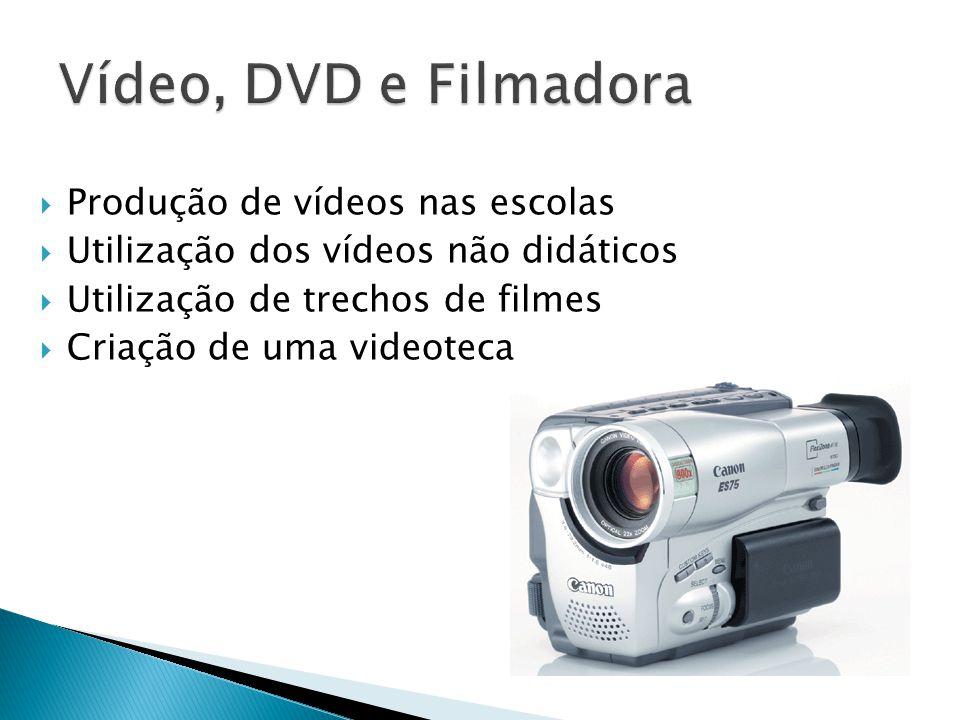 Vídeo, DVD e Filmadora Produção de vídeos nas escolas