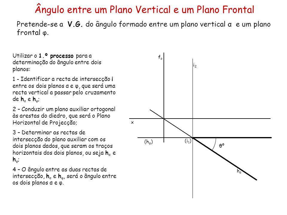 Ângulo entre um Plano Vertical e um Plano Frontal