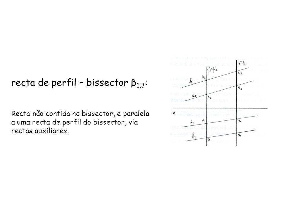 recta de perfil – bissector β1,3: