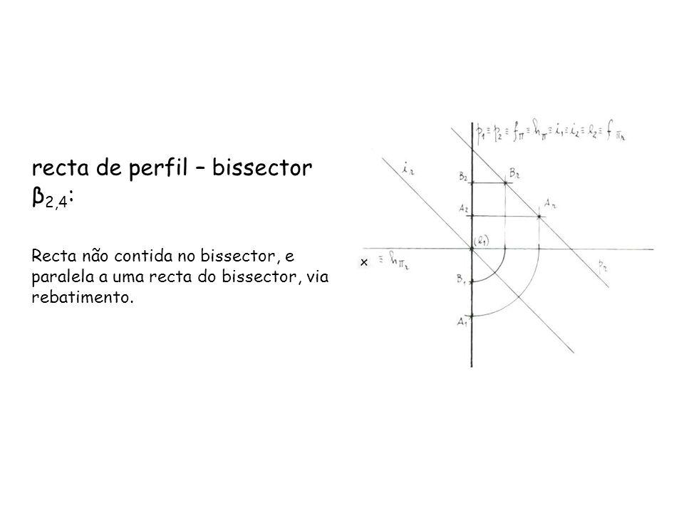 recta de perfil – bissector β2,4: